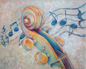 Hot-new-hand-painted-on-canvas-font-b-Musical-b-font-Instruments-oil-paintings-Susanne-Clark